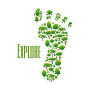 Environmental protection and nature explore poster - stock illustration