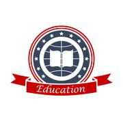 Education icon for university, college, academy Stock Illustration
