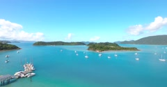 Harbour in Beautiful Tropical Paradise Islands Off Australia Coast Qeeensland  Stock Footage