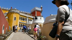 The Pena Palace, entrance Stock Footage
