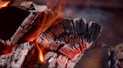Hot fire wood Stock Footage