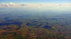4K Aerial Farm Landscape View, Agriculture Horizon Seen from Air Stock Footage
