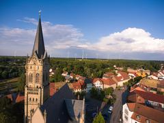 Old church Lucka medieval town Germany Thuringia Stock Photos