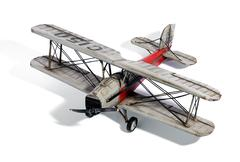 Scale model of a vintage biplane Stock Photos