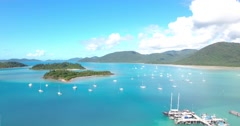 Beautiful Blue water and Islands off Australia Coastline  Stock Footage