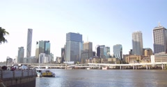 Brisbane RIver Queensland Australia holiday destination summer day  Stock Footage