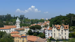 Sintra town with romantic houses Stock Footage