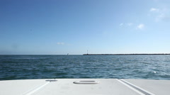 Heading Out to Sea from Harbor Stock Footage
