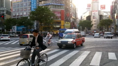Busy crossroads in Shibuya, Tokyo - stock footage