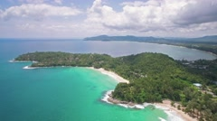 Clear Turquoise Waters of Surin, Pansea and Bangtao Beaches in Phuket Stock Footage