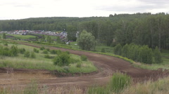 Car off-road racing, competition general view Stock Footage