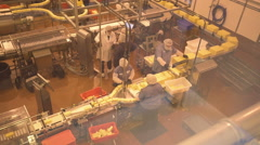 Cheese factory workers medium shot Stock Footage