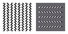 Zoellner optical illusion Stock Illustration