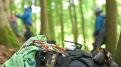Climbing Gear Piled UP Stock Footage