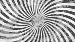 Abstract grey grunge hypnotic swirl background Stock Footage