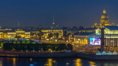 "Timelapse over the city of St. Petersburg Russia on the feast of ""Scarlet Sails Stock Footage"