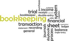 word cloud - bookkeeping - stock illustration