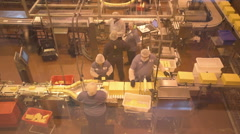 Cheese factory workers2 Stock Footage