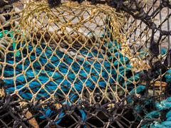 Lobster pot nets at Tobermory, Isle of Mull, Scotland, UK - stock photo