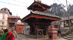 Architecture of Pashupatinath Temple Stock Footage