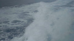 Slow Motion Motor Boat Wake Side View - 25FPS PAL Stock Footage