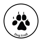 Dog trail icon Stock Illustration
