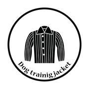Dog trainig jacket icon Stock Illustration