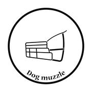Dog muzzle icon Stock Illustration