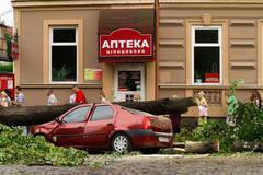 The consequences of the hurricane in Uzhgorod Kuvituskuvat