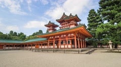KYOTO, JAPAN: HeiAn Shrine Stock Footage