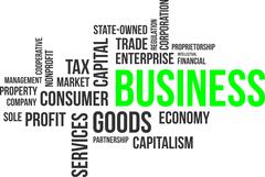 Word cloud - business Stock Illustration
