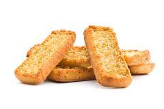 Crispy Italian antipasto bruschetta Stock Photos