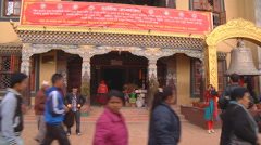Architecture of Boudhanath Stock Footage