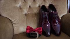 Groom wedding Accessories Stock Footage