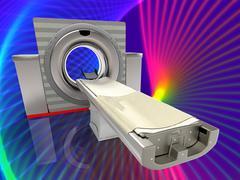Computer tomographic scanner 3d illustration Stock Illustration
