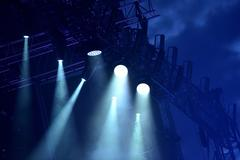 Stage lights at concert Stock Photos