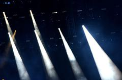 Stage lights at concert - stock photo