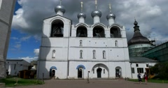 . Rostov Kremlin. The Golden ring of Russia. Rostov Veliky Stock Footage