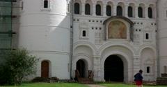 Gate. Rostov Kremlin. The Golden ring of Russia. Rostov Veliky Stock Footage