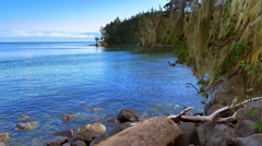 4K Pacific Coast Park, National Park Beach and Islands Horizon Stock Footage