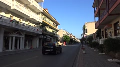 Downtown of Kalabaka. Greece Stock Footage