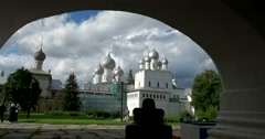 Churches. Rostov Kremlin. The Golden ring of Russia. Rostov Veliky Stock Footage