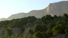 Panorama of cliffs on the southern coast of Crimea Stock Footage