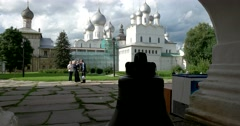 Churches. Bell. Rostov Kremlin. The Golden ring of Russia. Rostov Veliky Stock Footage