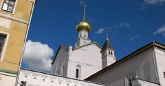 Church of the Saviour on Seni. Rostov Kremlin. The Golden ring of Russia. Stock Footage