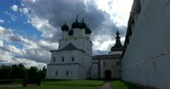 Church of St. Gregory Bogoslova. Rostov Kremlin. The Golden ring of Russia. Stock Footage