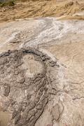 Mud volcano - stock photo