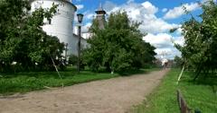Rostov Kremlin. Trail. The Golden ring of Russia. Rostov Veliky Stock Footage