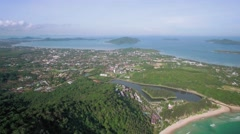 View Across Naiharn and Rawai With Chalong Bay In The Background Phuket Stock Footage