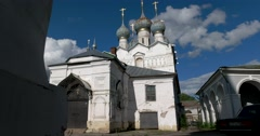 Church of the Savior on the Marketplace. Rostov Kremlin. Golden ring of Russia. Stock Footage